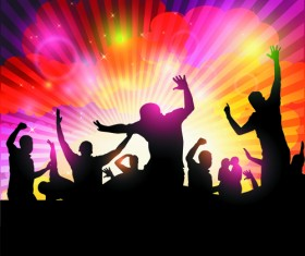 Set of Music Party People design Vector 02