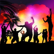 Link toSet of music party people design vector 03