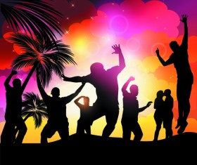 Set of Music Party People design Vector 03