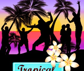 Set of Music Party People design Vector 04