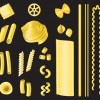 Different Pasta elements vector set 05