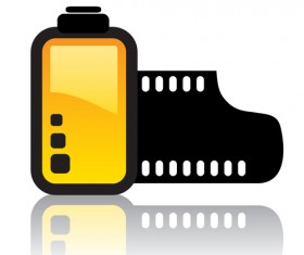 Camera accessories design vector 02
