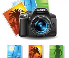 Camera accessories design vector 03