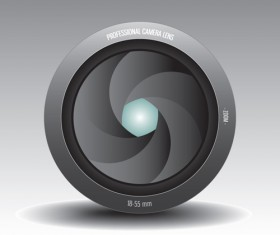 Camera accessories design vector 04