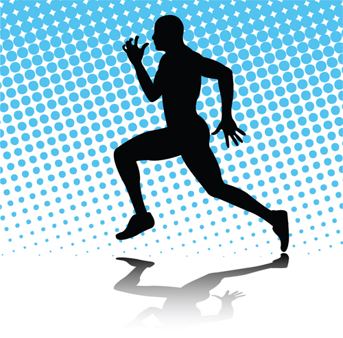 Run People Silhouettes design vector