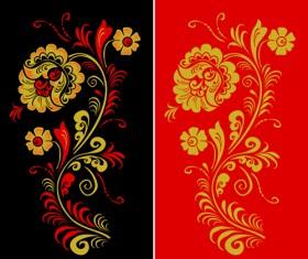 Pretty Russian Ornaments design vector 01