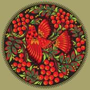 Link toPretty russian ornaments design vector 02