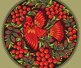 Pretty Russian Ornaments design vector 02