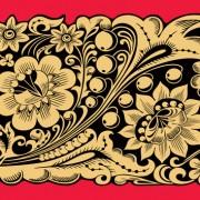 Link toPretty russian ornaments design vector 03