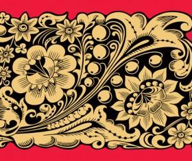 Pretty Russian Ornaments design vector 03
