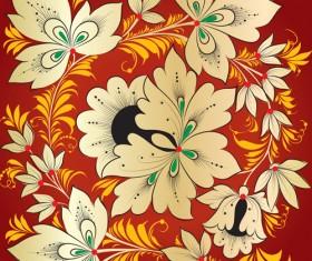Pretty Russian Ornaments design vector 04