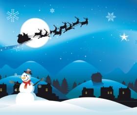 Happy Santa design elements vector set 01