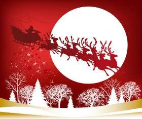 Happy Santa design elements vector set 04