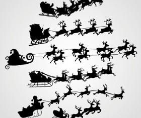 Happy Santa design elements vector set 05