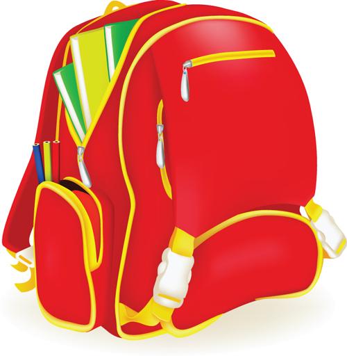 Free EPS file Funny School bag design elements vector 03 download