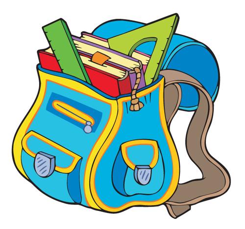 Funny school bag design elements vector 05 – Over millions