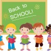 Set of Cute School children design vector material 02