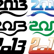 Link toSet of 2013 year of snake design vector 09