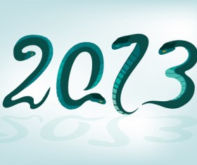 Set of 2013 year of snake design vector 10