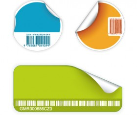 Set of Barcode with stickers vector