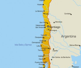 Vivid South America map design vector material 01