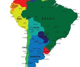 Vivid South America map design vector material 03