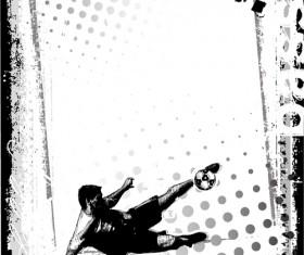 Sport elements Garbage backgrounds vector 01
