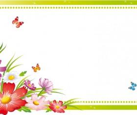 Vector of Spring Fresh Flower Frame set 10