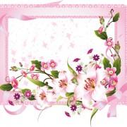 Link toVector of spring fresh flower frame set 03