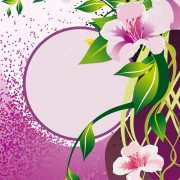 Link toVector of spring fresh flower frame set 05