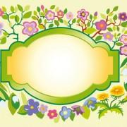 Link toVector of spring fresh flower frame set 07