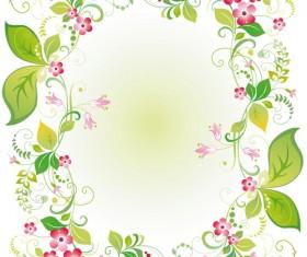 Vector of Spring Fresh Flower Frame set 08