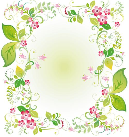 Vector Of Spring Fresh Flower Frame Set 08 Free Download