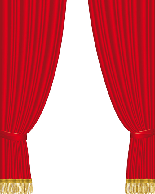 cartoon red curtains wallpaper - photo #37