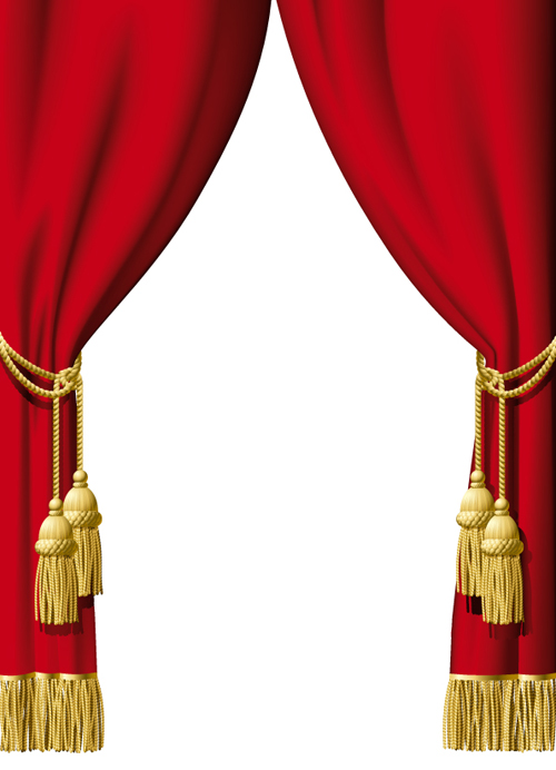 Red curtain for Backstage design vector 02 - Vector Other free ...