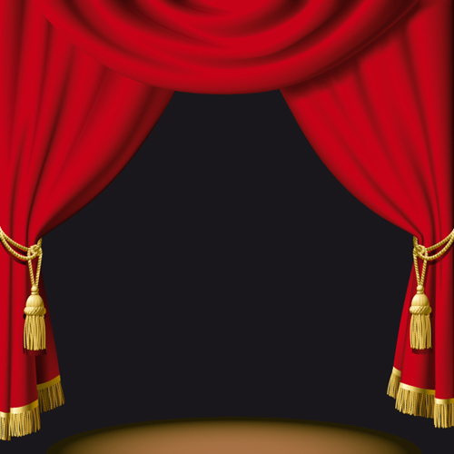 cartoon red curtains wallpaper - photo #10