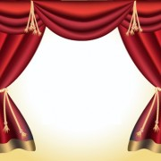 Link toRed curtain for backstage design vector 04