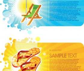 Travel with Abstract cards vector