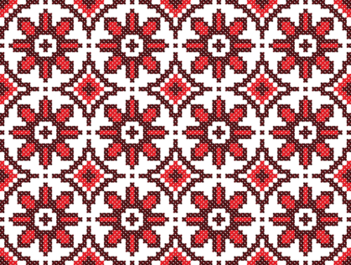 Ukraine Style Fabric ornaments vector graphics 13