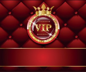 Set of Senior VIP cards design vector 03