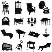 Link toDifferent vintage furniture design vector set 01