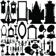 Link toDifferent vintage furniture design vector set 04