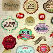 Link toVintage premium quality labels and stickers vector 01