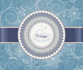 Vintage backgrounds with floral vector graphic 01