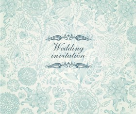 Vintage backgrounds with floral vector graphic 03