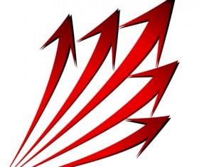 Set of Wave arrows vector backgrounds 02