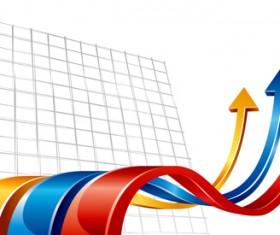 Set of Wave arrows vector backgrounds 04
