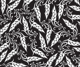 Set of Wheat patterns mix vector 01