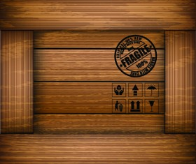 Elements of Wooden Box pattern Backgrounds vector 05