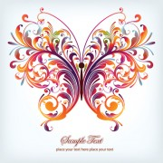 Link toColorful abstract butterfly elements vector 03